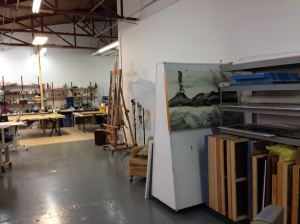 A partial view of the studio